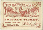1868 National Republican Convention Ticket Prices
