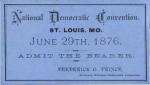 1876 National Democratic Convention Ticket Price Guide