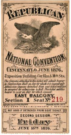 1876 National Republican Convention Ticket Prices