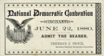 1880 National Democratic Convention Ticket Price Guide