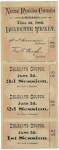 1880 National Republican Convention Ticket Prices