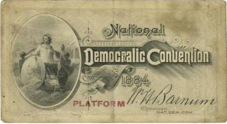1884 National Democratic Convention Ticket Price Guide