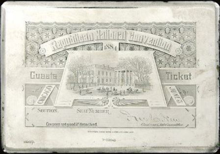 1884 National Republican Convention Ticket Prices