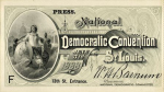 1888 National Democratic Convention Ticket Price Guide
