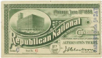 1888 National Republican Convention Ticket Prices