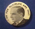 Election of 1896 William Jennings Bryan Portrait Buttons