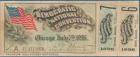 1896 National Democratic Convention Ticket Price Guide