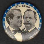 Election of 1896 William Jennings Bryan Jugate Buttons