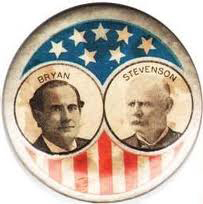 Election of 1900 William Jennings Bryan Jugate Buttons
