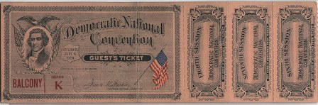 1904National Democratic Convention Ticket Price Guide