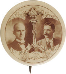 Election of 1904 Eugene Debs Portrait Buttons