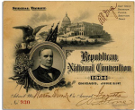 1904 National Republican Convention Ticket Prices