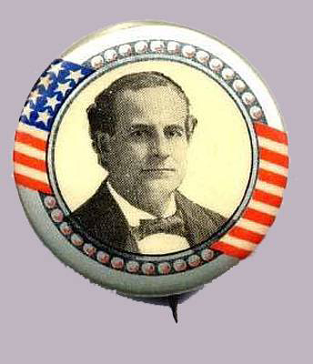 Election of 1908 William Jennings Bryan Portrait Buttons