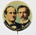 Election of 1908 William Jennings Bryan Jugate Buttons