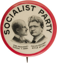 Election of 1912 Eugene Debs Jugate Buttons
