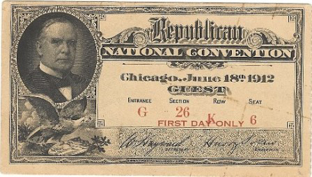 1912 National Republican Convention Ticket Prices