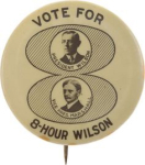 Election of 1916 Woodrow Wilson Jugate Buttons
