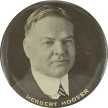 Election of 1928 Herbert Hoover Portrait Buttons
