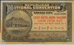 1928 National Republican Convention Ticket Prices