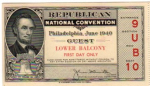 1940 National Republican Convention Ticket Prices