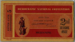 1944 National Democratic Convention Ticket Price Guide