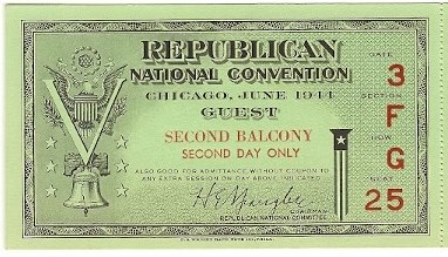 1944 National Republican Convention Ticket Prices