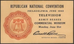 1948 National Republican Convention Ticket Prices