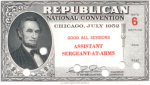 1952 National Republican Convention Ticket Prices
