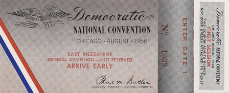 1956 National Democratic Convention Ticket Price Guide