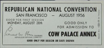 1956 National Republican Convention Ticket Prices