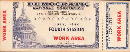 1960 National Democratic Convention Ticket Price Guide