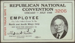 1960 National Republican Convention Ticket Prices