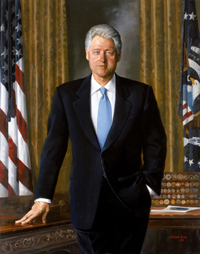 Bill Clinton Presidential ChinaPortrait