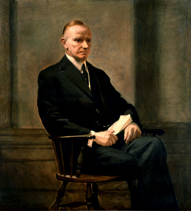 Calvin Coolidge Presidential ChinaPortrait