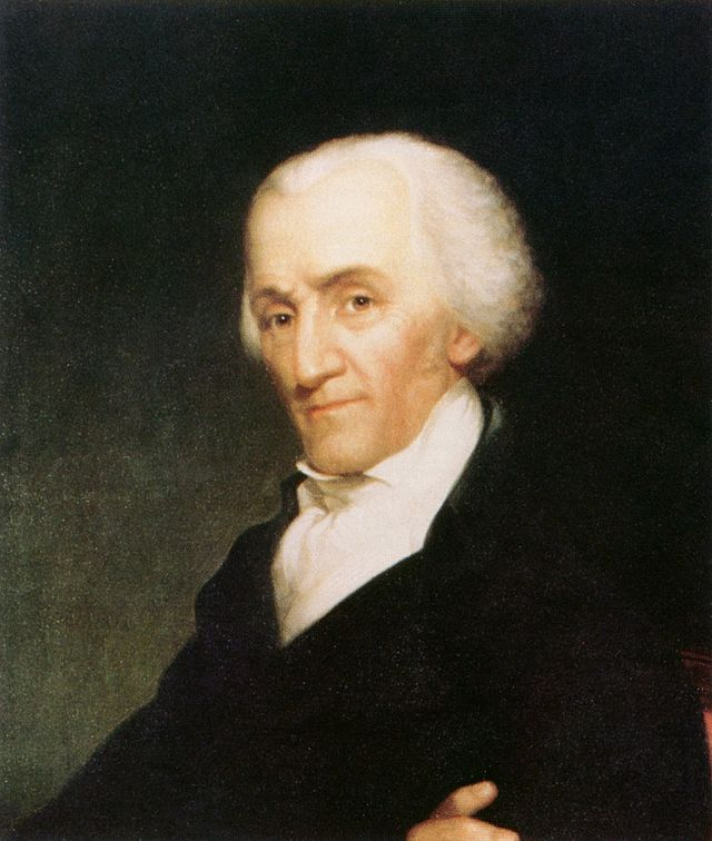 James Madison Political Mourning RibbonPortrait
