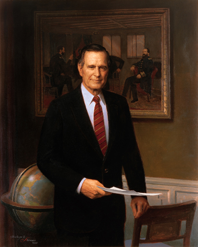 George H.W. Bush Presidential ChinaPortrait