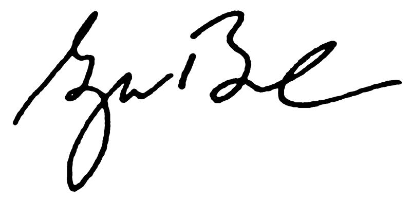 George W. Bush Presidential China Signature