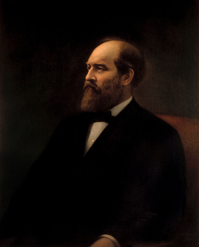 James Garfield 1880 Political Campaign FlagPortrait