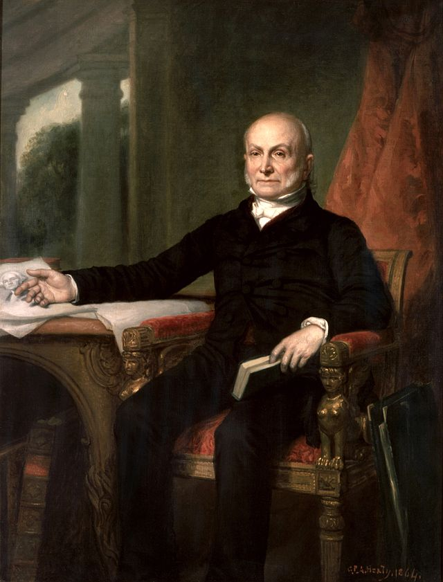 John Quincy Adams Presidential ChinaPortrait