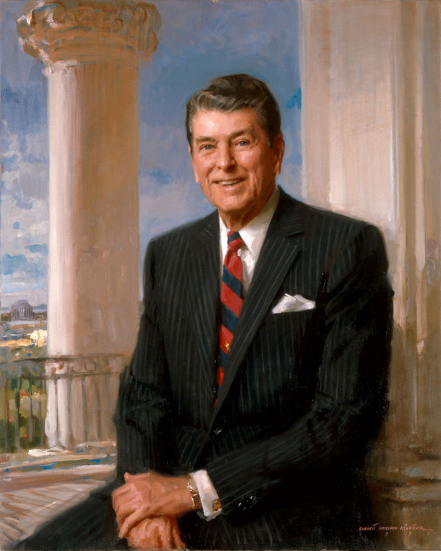 Ronald Reagan Presidential ChinaPortrait