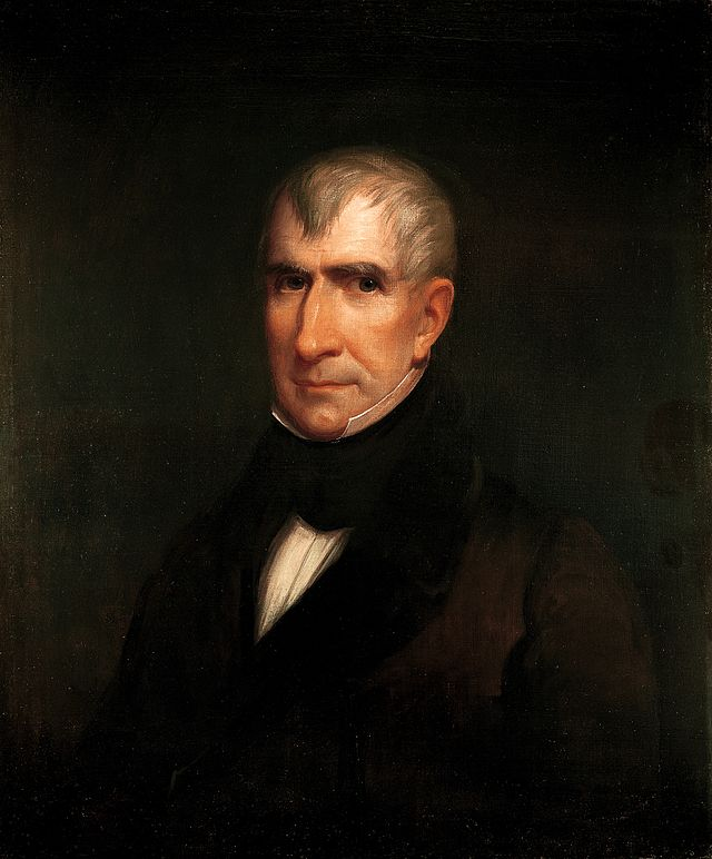 William Henry Harrison Presidential ChinaPortrait