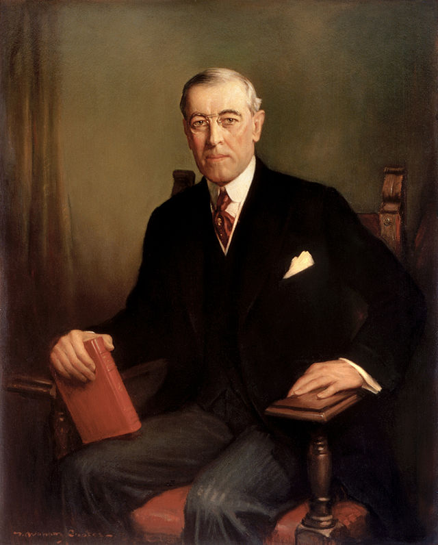 Woodrow Wilson Presidential ChinaPortrait