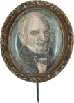 John Quincy Adams Political Brooch