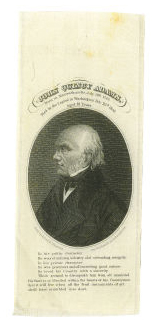 John Quincy Adams Political Mourning Ribbon