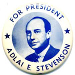 Election of 1956 Adlai Stevenson Portrait Buttons