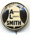"Election of 1928 Alfred Smith ""Al"" Buttons"