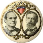 Election of 1908 William Jennings Bryan Art Nouveau Buttons