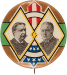 Election of 1908 William Howard Taft Art Nouveau Buttons