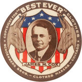 Election of 1920 James M. Cox Best Ever Buttons