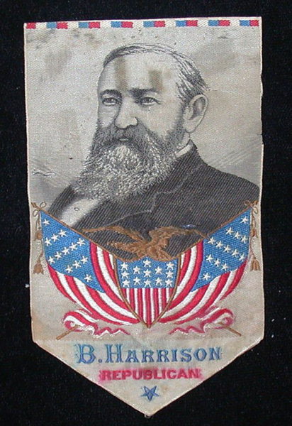 Benjamin Harrison Political Ribbons